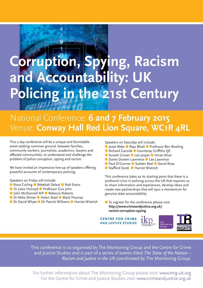 CCJS conference flier