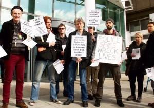 Protest against Bob Lambert's employment at London Metropolitan University, March 2015