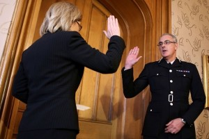Phil Gormley Being Sworn in as Chief Constable of Police Scotland