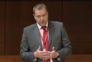 Neil Findlay MSP addresses the Scottish parliament, 30 June 2016