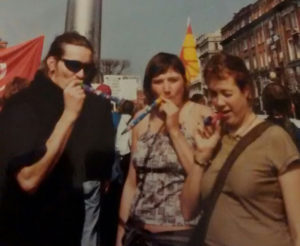 Mark Kennedy and Sarah Hampton in Dublin 2005