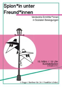 Frankfurt Spycops event poster