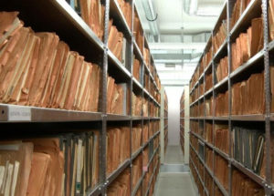 Shelves of Stasi secret police files