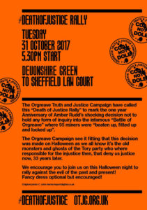 OTJC Death of Justice rally 2017 poster