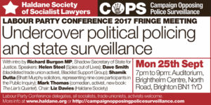 Labour Party Fringe meeting poster