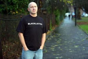 Dave Smith in 'Blacklisted' T shirt