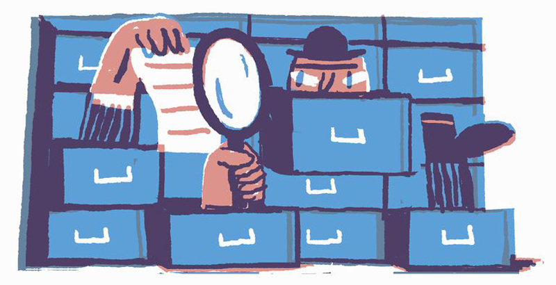 Cartoon Of Man In Filing Cabinet Campaign Opposing Police Surveillance