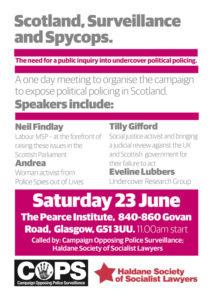 Poster for Haldane/COPS meeting, Glasgow 23 June 2018
