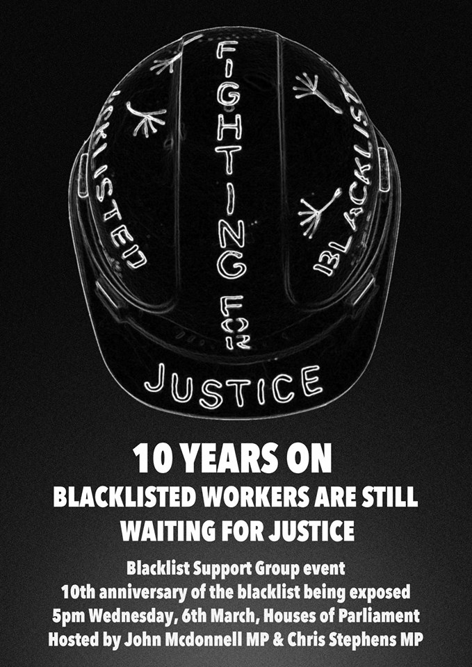 Blacklisting Archives - Campaign Opposing Police Surveillance